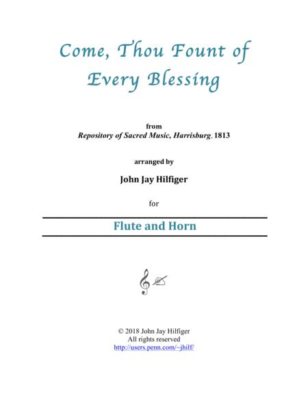 Come, Thou Fount of Every Blessing for Flute and Horn