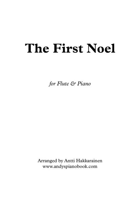 The First Noel - Flute & Piano