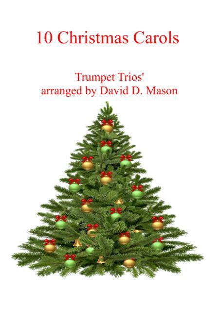 10 Christmas Carols for Trumpet Trio +Piano