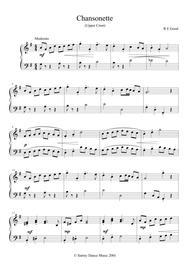 Chansonette (easy piano solo)