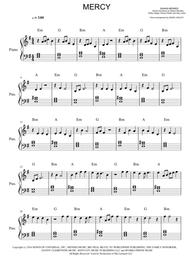 Shawn Mendes Mercy Easy Piano By Shawn Mendes Digital Sheet