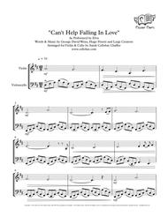 Can't Help Falling In Love - Violin & Cello Duet - Elvis arr. Cellobat