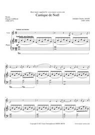 Cantique de Noel; O Holy Night - Violin and Piano