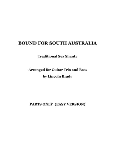 download bound for south australia junior guitar ensemble parts only sheet music by. Black Bedroom Furniture Sets. Home Design Ideas