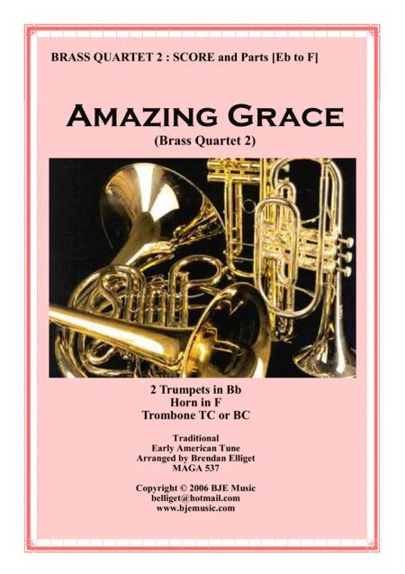Amazing Grace - Brass Quartet No. 2 Score and Parts PDF