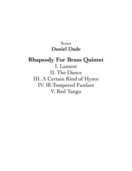 Rhapsody For Brass Quintet