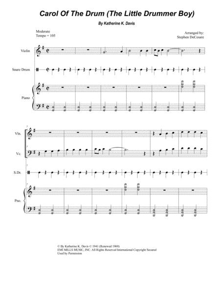 Preview Carol Of The Drum (The Little Drummer Boy) (Duet For