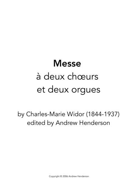 Messe à deux chœurs et deux orgues (choir of baritones, SATB, two organs)