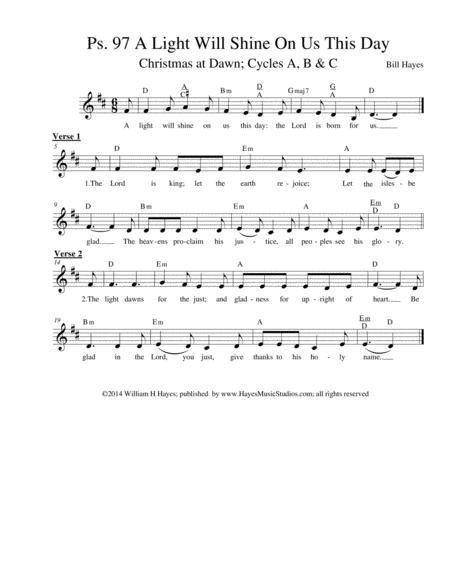 Psalm 97: A Light Will Shine On Us