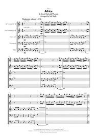 Download Toto - Africa For Brass Quintet Sheet Music By Toto - Sheet