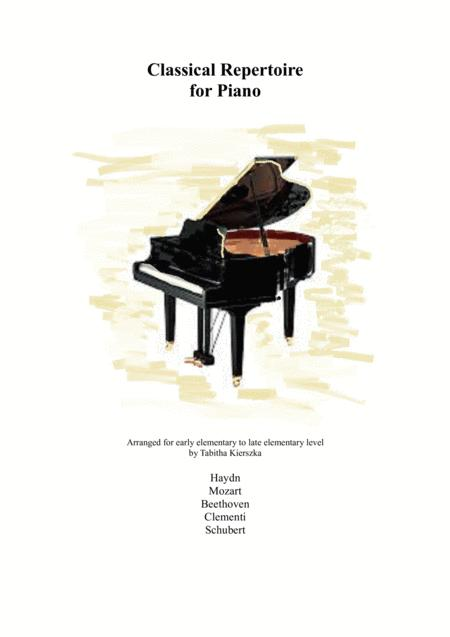 Classical Repertoire for Piano Elementary Level