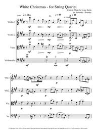 White Christmas - for string quartet - 'cello lead