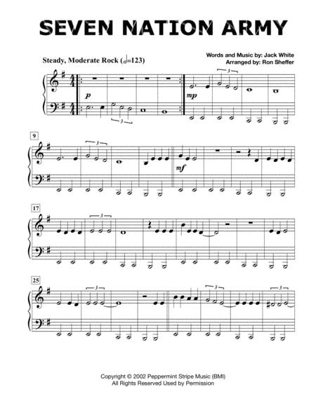 Seven Nation Army - Easy Piano - in the original key