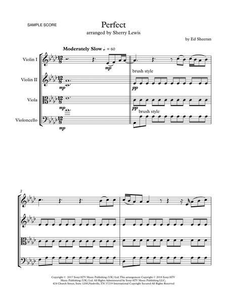 Perfect STRING QUARTET (for string quartet)