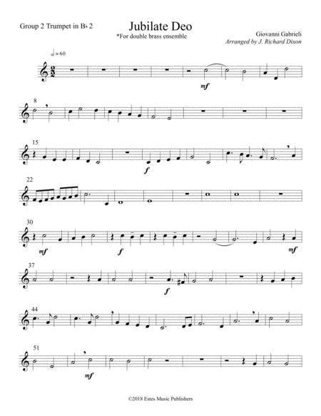 Giovanni Gabrieli's Jubilate Deo arranged for Double Brass Quartet
