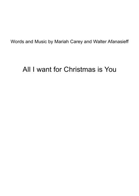 All I Want For Christmas Is You   for Brass Quartet