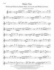Marry You (Original key) Violin