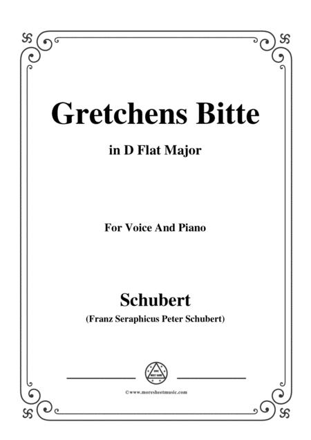 Schubert-Gretchens Bitte in D Flat Major,for voice and piano
