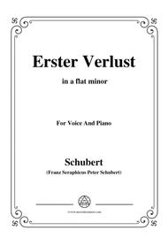 Schubert-Erster Verlust in a flat minor,for voice and piano