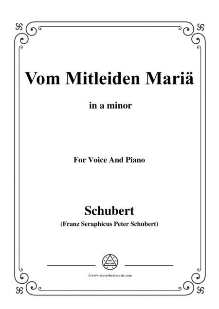 Schubert-Vom Mitleiden Mariä in a minor,for voice and piano