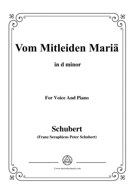 Schubert-Vom Mitleiden Mariä in d minor,for voice and piano