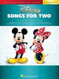 Disney Songs for Two Alto Saxes