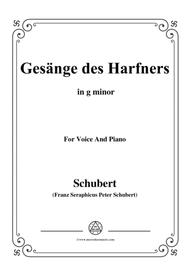Schubert-An die Türen will ich schleichen Op.12 No.3 in g minor,for voice and piano