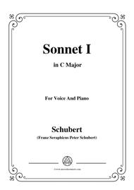 Schubert-Sonnet I in C Major,for voice and piano
