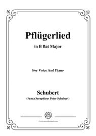 Schubert-Pflügerlied in B flat Major,for voice and piano