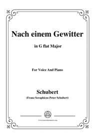 Schubert-Nach einem Gewitter in G flat Major,for voice and piano