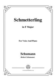 Schumann-Schmetterling,in F Major,Op.79,No.2,for Voice and Piano