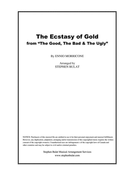 The Ecstasy Of Gold from THE GOOD, THE BAD AND THE UGLY - Lead sheet (key of Am)