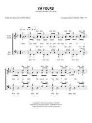 I'm Yours [CHORAL PRICING]