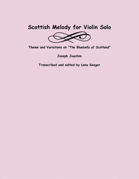 scottish melody for violin solo by joseph joachim (1831-1907) - digital sheet  music for solo part - download & print s0.450373 | sheet music plus  sheet music plus