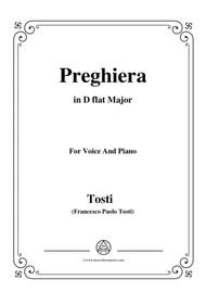 Tosti-Preghiera in D flat Major,for voice and piano