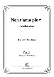 Tosti-Non t'amo più! In b flat minor,for voice and piano