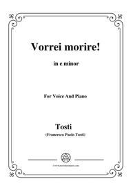 Tosti-Vorrei morire! In e minor,for voice and piano