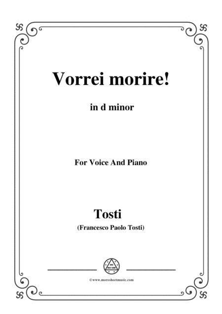 Tosti-Vorrei morire! In d minor,for voice and piano