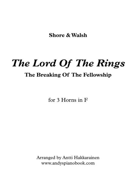 The Lord Of The Rings: The Breaking Of The Fellowship - Horn Trio