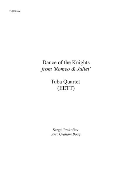 Dance Of The Knights for Tuba Quartet (EETT)