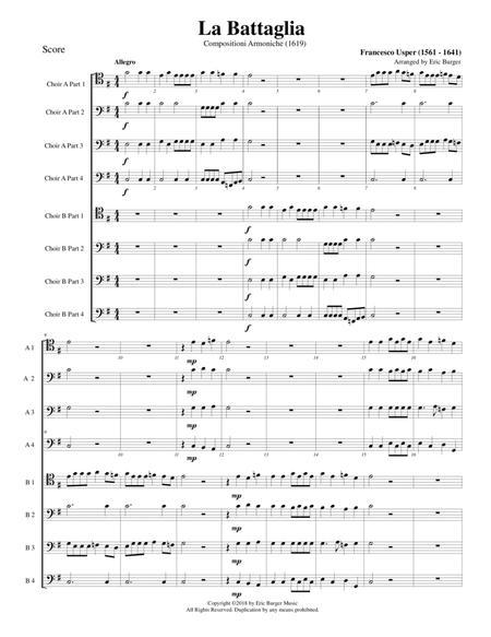 La Battaglia for Trombone or Low Brass Octet