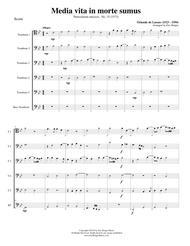 Media vita in morte sumus for Trombone or Low Brass Sextet