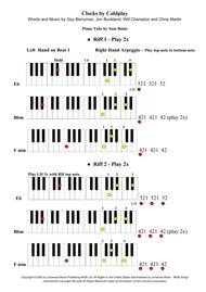 Clocks by Coldplay - Piano Tab