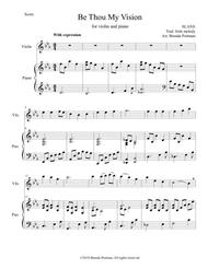 Be Thou My Vision (violin/piano), arr. Brenda Portman