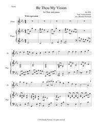 Be Thou My Vision (flute/piano), arr. Brenda Portman