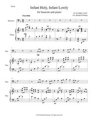 Infant Holy, Infant Lowly (bassoon/piano), arr. Brenda Portman