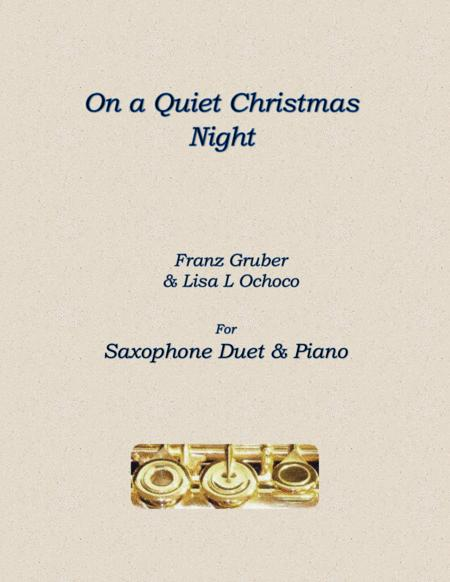 On a Quiet Christmas Night for Saxophone Duet and Piano