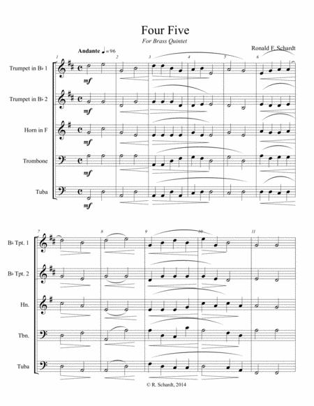 Four Five - for Brass Quintet