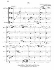 She (Charles Aznavour) for clarinet quartet