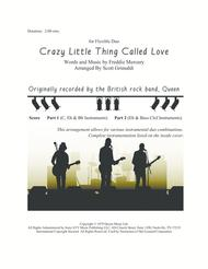 Crazy Little Thing Called Love - for Flexible Duo (C, Eb, Bb & Bass Clef Instruments)